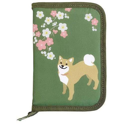 496-627 お薬手帳ケース 柴犬/梅