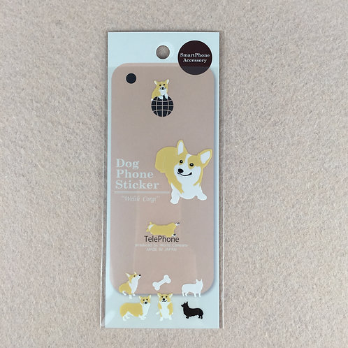 D00920 Dog Phone Sticker Welsh Corgi