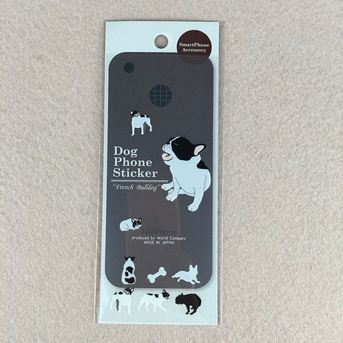D00919 Dog Phone Sticker French Bulldog