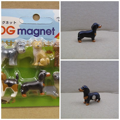 D00564 Midori Dog Magnet - 臘腸