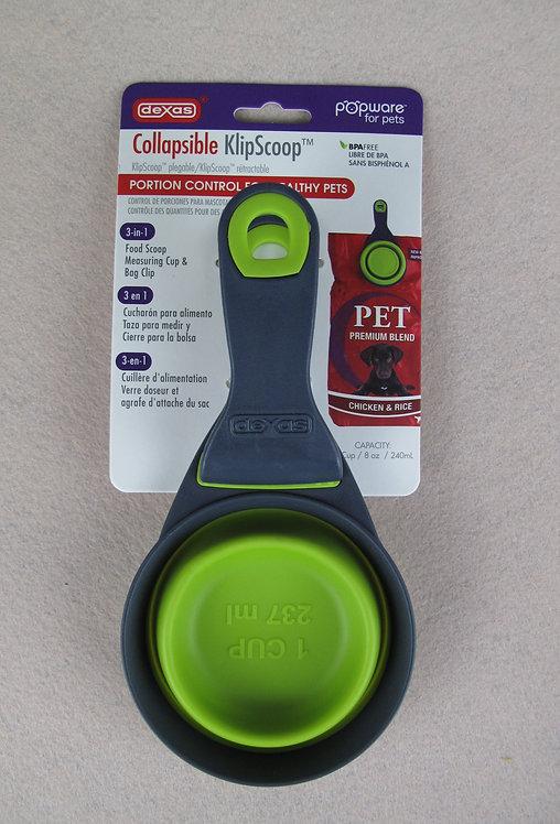 D01037 Dexas Collapsible Klipscoop - 1 cup(Green)