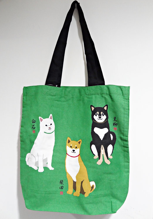 D01799 _40 柴田tote bag(黑白赤三色柴)