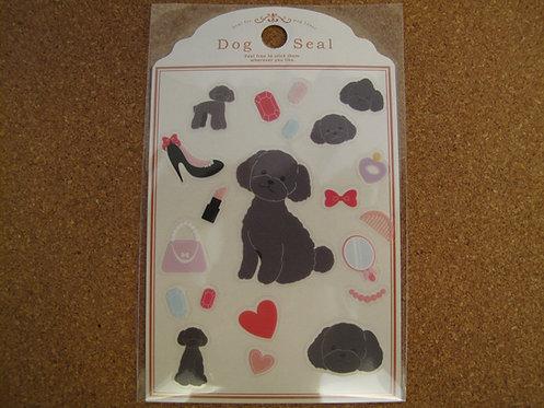 D00039 Dog Seal 貴婦犬(灰)貼紙