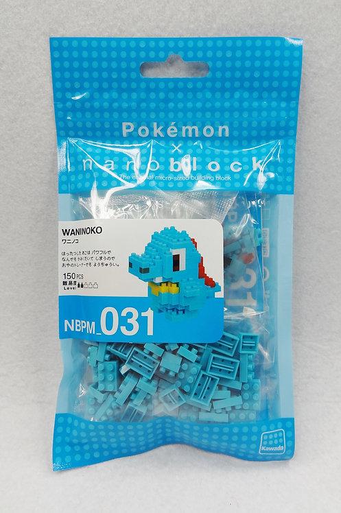nanoblock NBPM_031 Pokemon Waninoko
