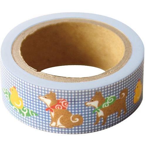 D02198 柴犬mask tape