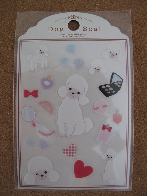 D00147 Dog Seal 貴婦犬(白色) 貼紙