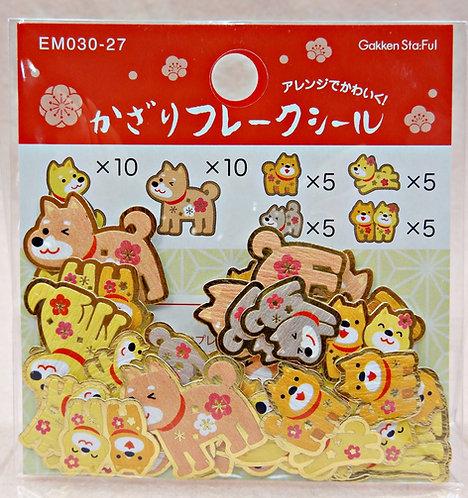 D02308 和風柴犬貼紙(EM030-27)