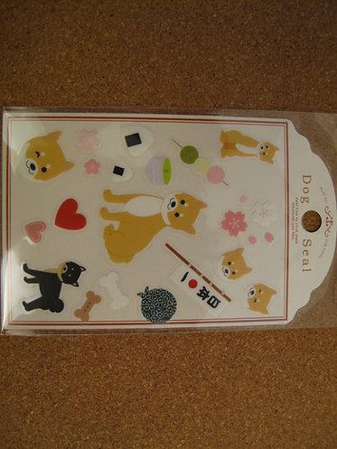 D00056 Dog Seal 柴犬貼紙