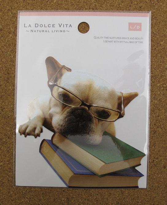D00585 La Dolce Vita 老虎犬防水貼紙