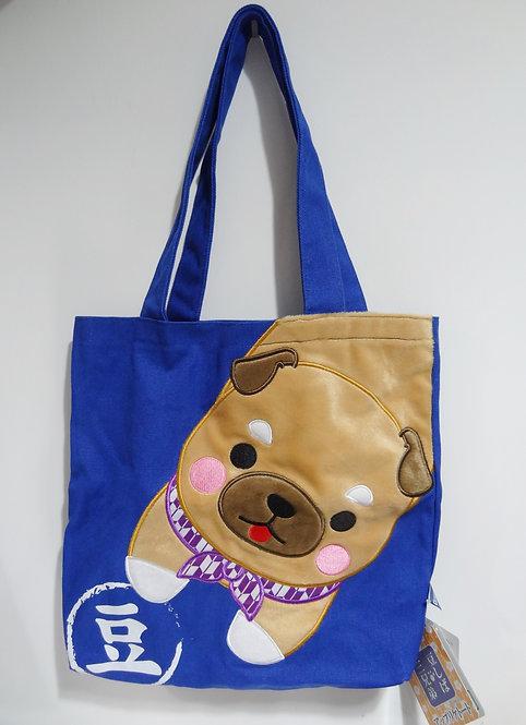 D02029_3 豆柴三兄弟tote bag_豆三郎