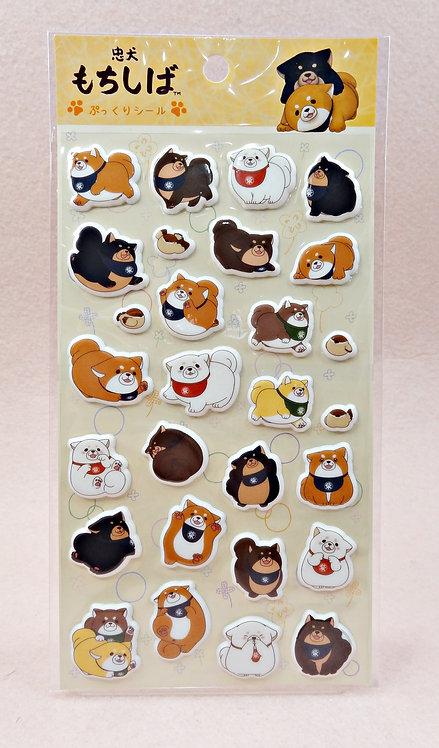 D02862_2 忠犬Mochi立體貼紙 (041330)