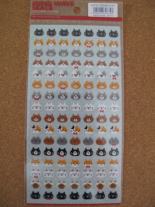 D00158 Mind Wave Seals 貓貓貼紙