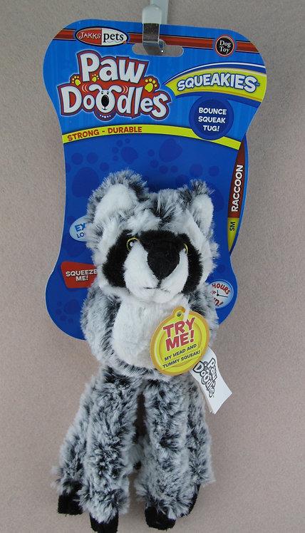 D01150 PAWDOODLES Squeakies Raccoon S