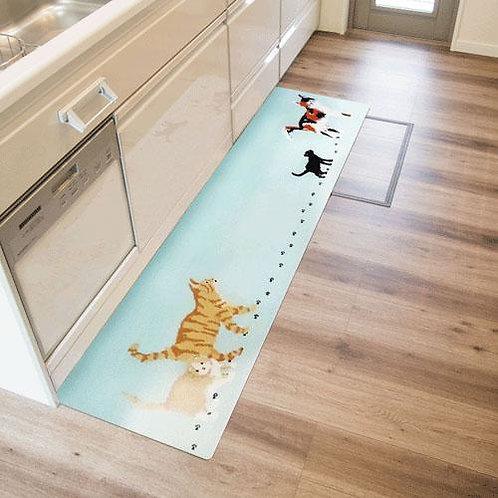 755-836 拭ける北欧風キッチンマット45×180cm ミャオ