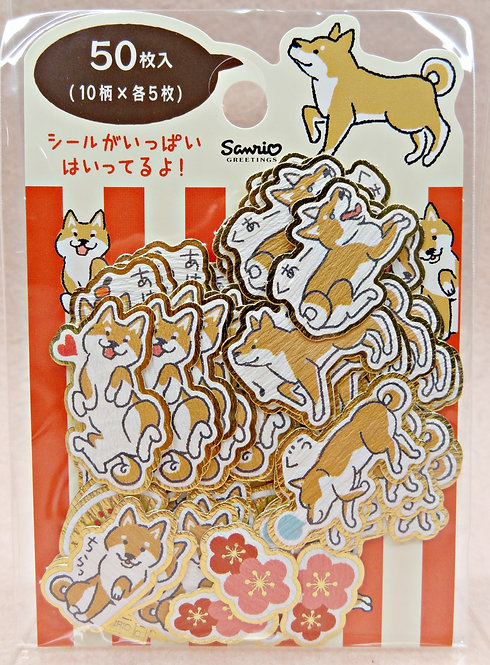 D02335 Sanrio 柴犬貼紙(JNP42-8)
