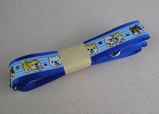 D01070 柴犬牽帶 - 彩藍
