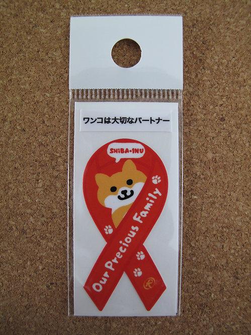 D00127 柴犬Ribbon貼紙