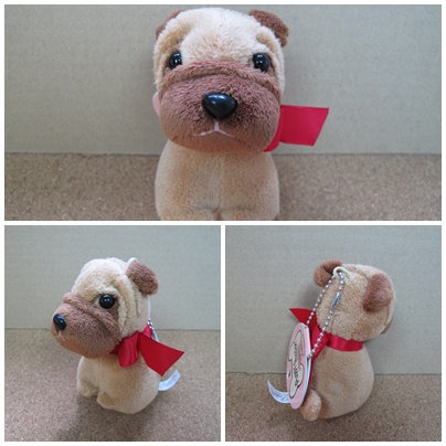 D00767 Puppy Passion八哥毛公仔吊飾