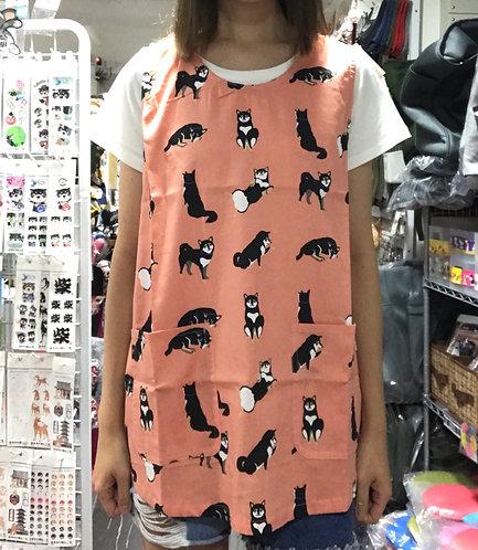 D01941_3 柴田巾背心型圍裙_橙黑柴