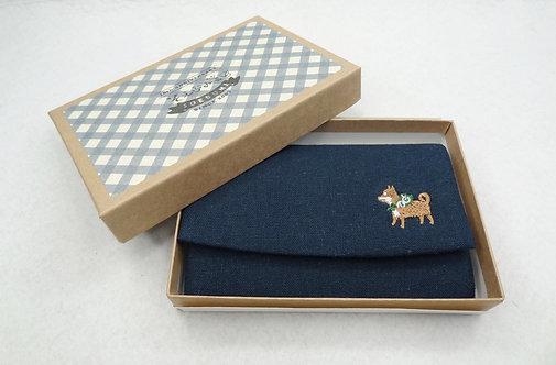 D02179 柴犬刺繡咭片盒