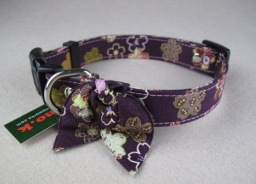 D00993 Amo.k日本製和花柄頸飾 - 紫(L)