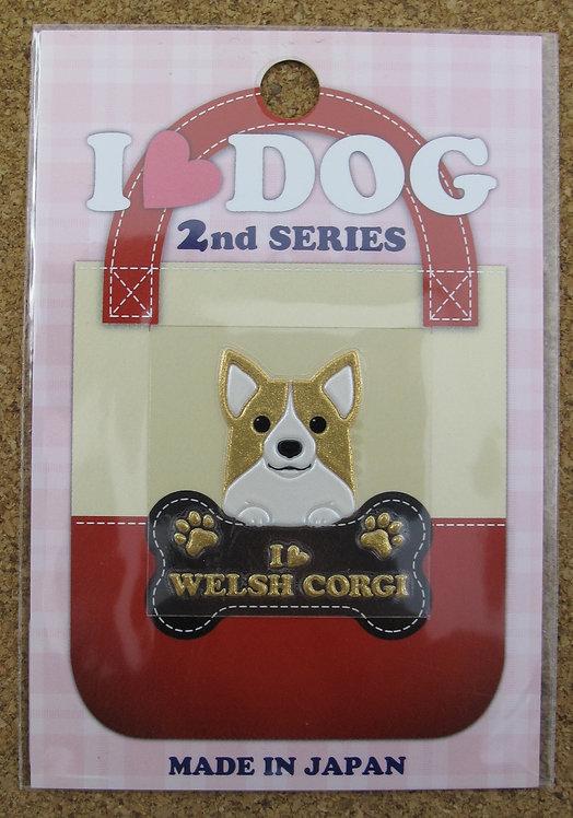 D00353 彩蒔絵 I Love Dog 2nd I Love Welsh Corgi