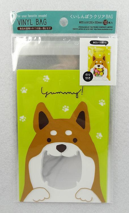 D01896 柴犬塑膠小禮物袋