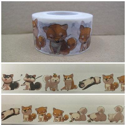 D00612 柴犬日本和紙膠帶