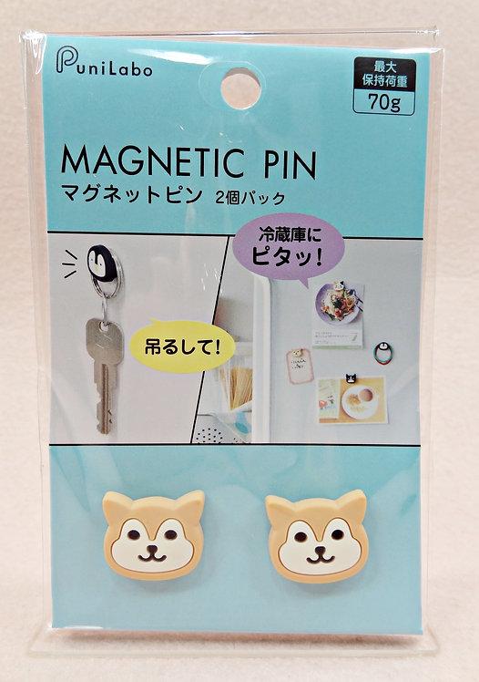 D02696 PuniLabo柴犬磁石頭