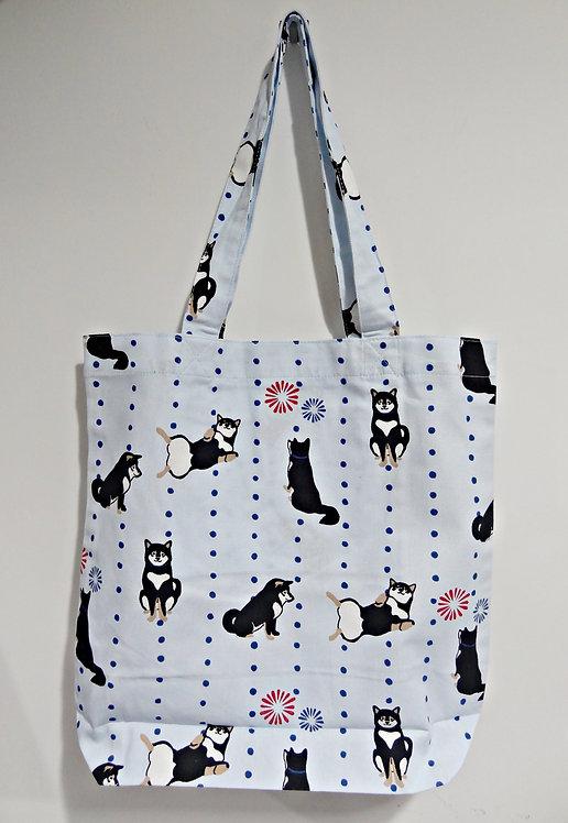 D01799_22 柴田tote bag(煙花黑柴)