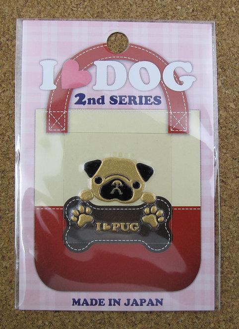 D00620 彩蒔絵 I Love Dog 2nd Series I Love Pug 八哥