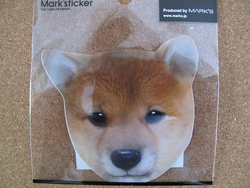 D00128 Mark's sticker 柴犬貼紙 (細)