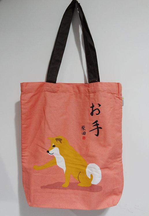 D01799_13 柴田tote bag(粉紅)