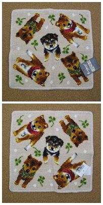 D00515 日本製柴犬圖案方巾(赤/黑柴)