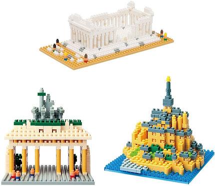 A001 Sight Collection Series Brandenburger Tor Mont-Saint-Michel The Parthenon