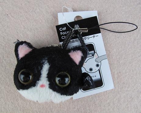 D00903 貓貓螢幕清潔掛飾 / 防塵塞 (黑白)