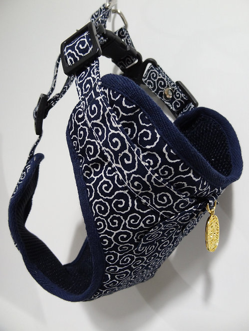 D01847_8 Amo.k日本製唐草胸帶 - 藍(4號)
