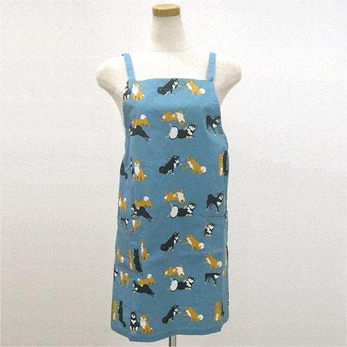 D01769_8 柴田圍裙(赤黑柴藍)