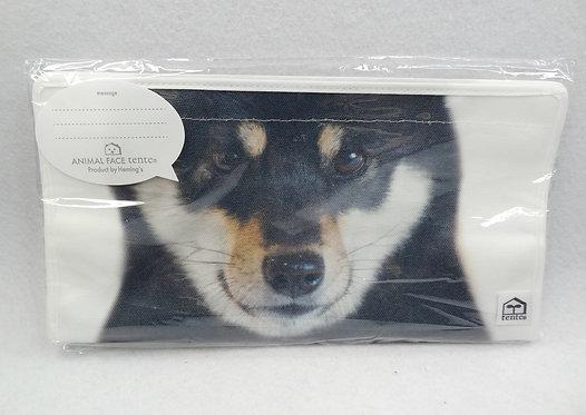 D01926 Tente柴犬頭紙巾盒套(黑柴)