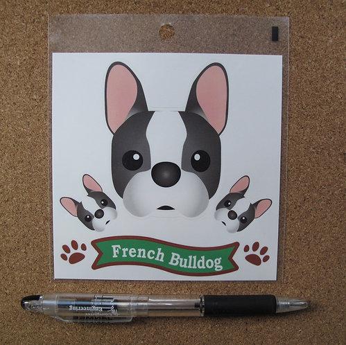 D00808 防水貼 法國鬥牛犬