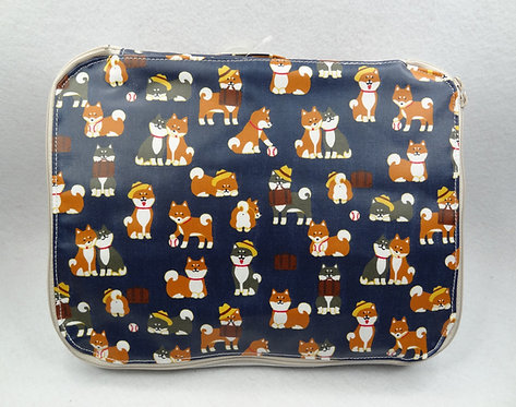 D01857 柴犬雙拉鍊PVC防水溫泉袋