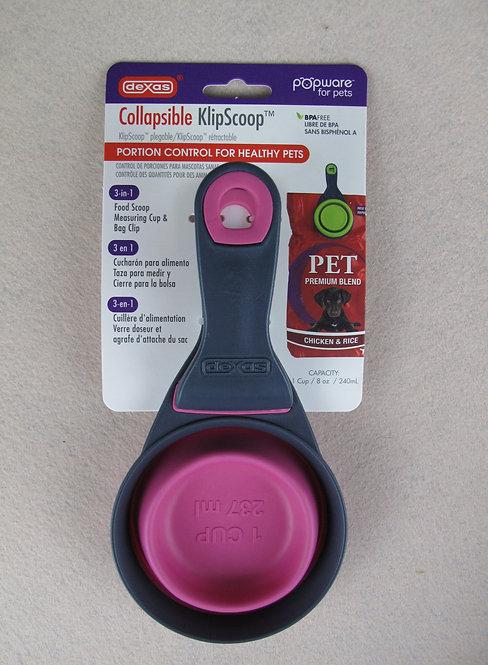 D01035 Dexas Collapsible Klipscoop - 1 cup(Pink)