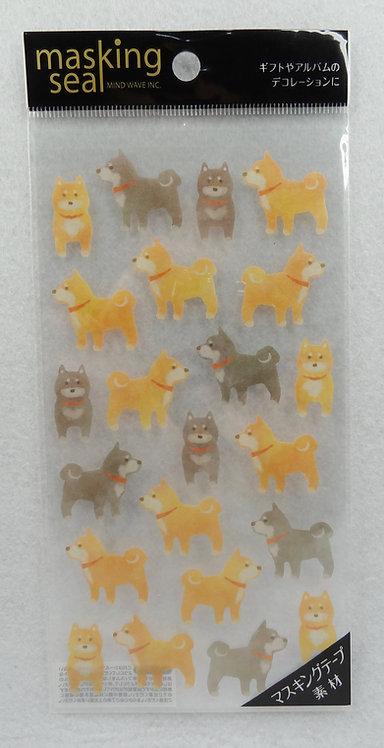 D01445 Masking Seal - 柴犬貼紙