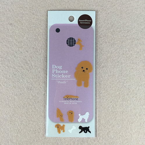 D00921 Dog Phone Sticker Poodle