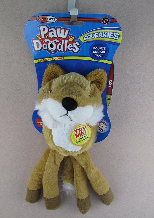 D01149_1 PAWDOODLES Squeakies Fox L