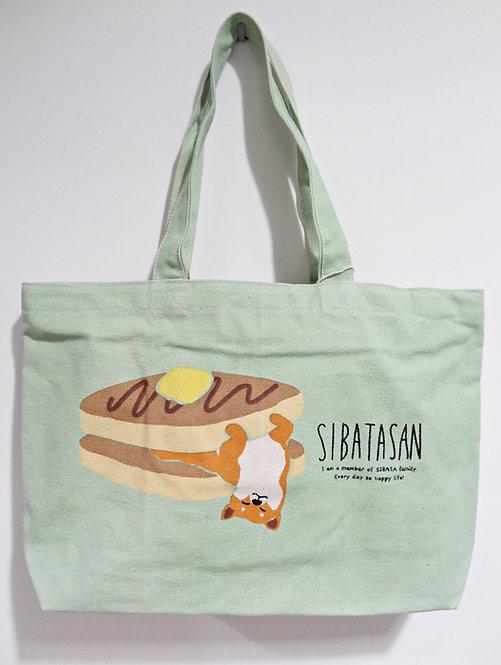 D02085_5 柴田拉鍊A4側孭袋(綠色pancake赤柴)