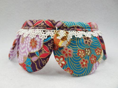 D01308_21 手造綁式四葉草頸飾 - 和風紫 (中碼)