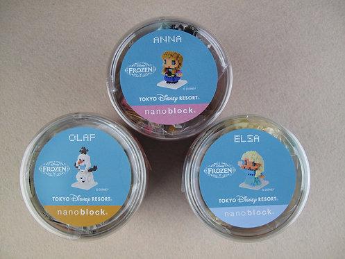 nanoblock D_FROZEN_2 DISNEY Frozen 2 Elsa Olaf Anna