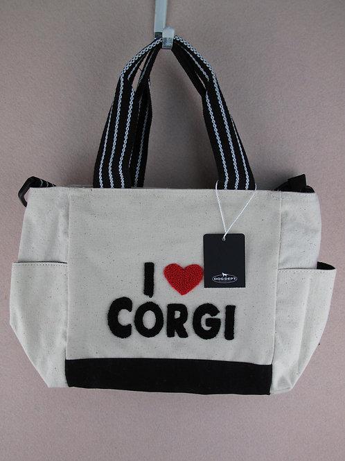 D01324 I Love Corgi 哥基袋