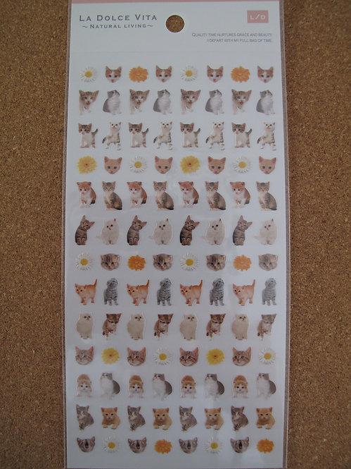 D00159 La Dolce Vita 貓貓貼紙 (細)